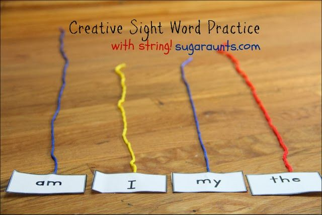 3 creative ways to practice sight words with a simple house-hold item...String! | Sugar Aunts