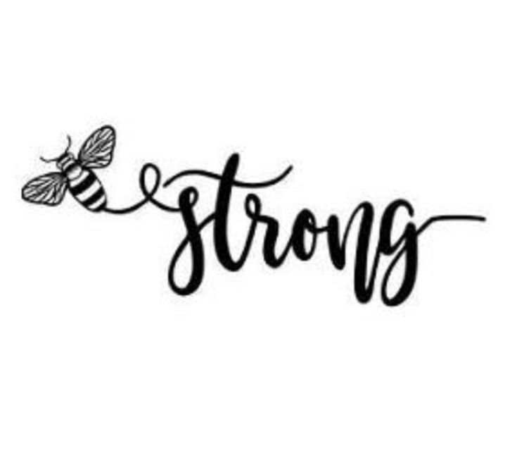 Be Strong Breathable Reusable and Washable Vinyl Decal