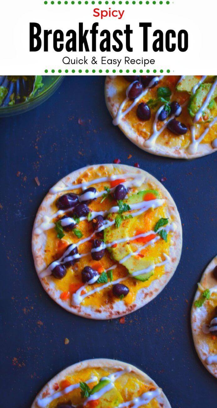 Spicy Breakfast Taco (Quick & Easy Recipe): #breakfast #taco #spicy
