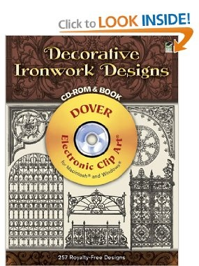 Decorative Ironwork Designs CD-ROM and Book (Dover Electronic Clip Art): Dover: 9780486995823: Amazon.com: Books