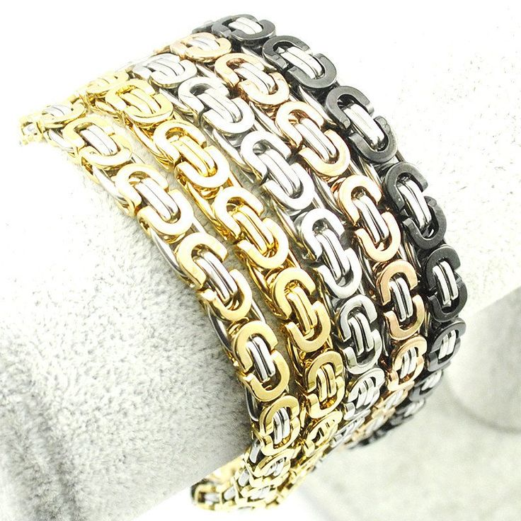 Men's 316L Stainless Steel Bracelet Wristband Hand Chain For Men Jewelry Fashion Byzantine Biker Bicycle Motorcycle Bangle