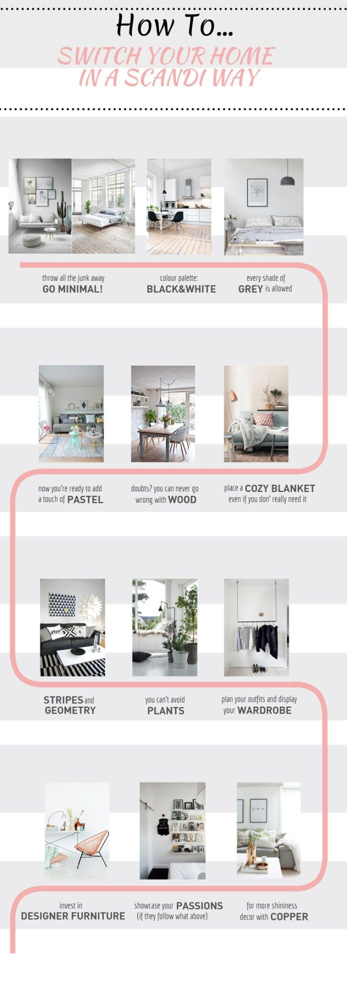 "Check this infographic if you want to know how to switch your home in a scandinavian way. ""spacesXplaces"""