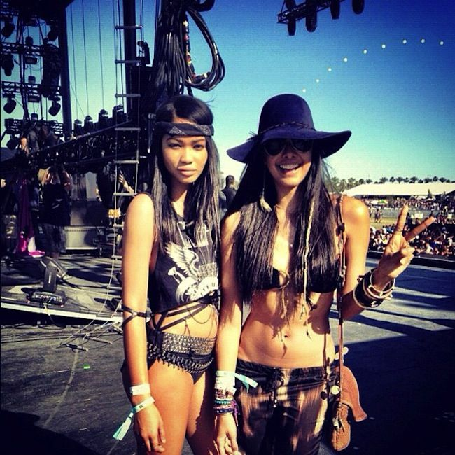chanel iman x coachella #intothewild #coachella @Brittni Bradley would fit right in with the skinny black girls.