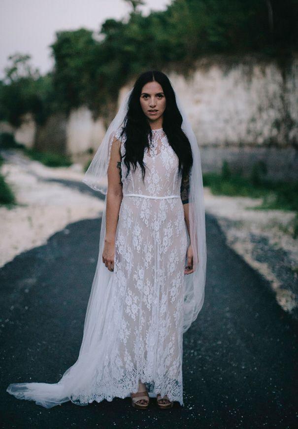 SARAH  wearing Ivy gown
