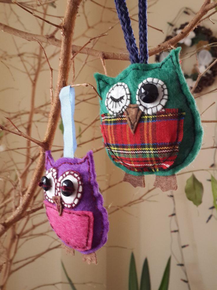 keçe baykuş, felt owl, felt key chain
