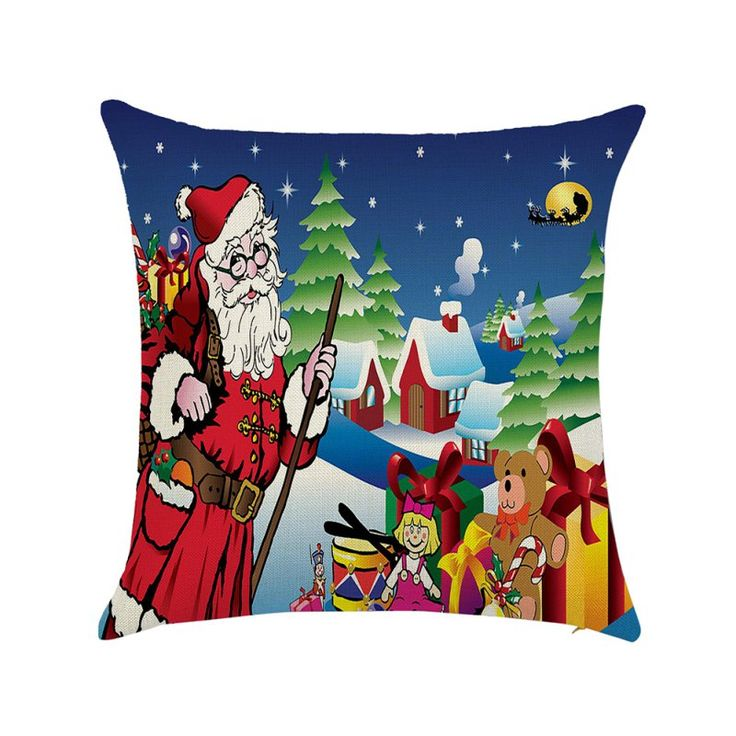 Cheap Cushion Case Buy Quality Christmas Pillow Cover Directly From China Fabric Cushions Suppliers New Arrival Lovely Xmas Santa
