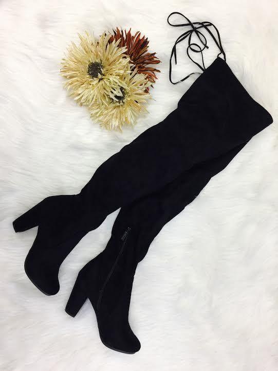 Black Thigh High Boots – MARY & MAK