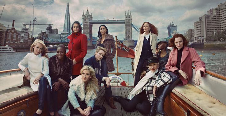 Marks & Spencer's Britain's Leading Ladies campaign (left to right): Katie Piper, Nicola Adams, Tracey Emin, Ellie Goulding, Helen Allen, Monica Ali, Grace Coddington, Helen Mirren, Laura Mvula and Karen Elson. Photographed by Annie Leibowitz