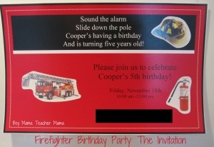 Boy Mama: A Firefighter Birthday Party