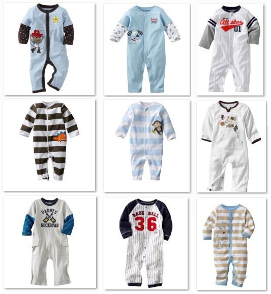 Carters baby romper jumping beans baby boys pajamas rompers one-piece romper 100% Cotton € 4,35