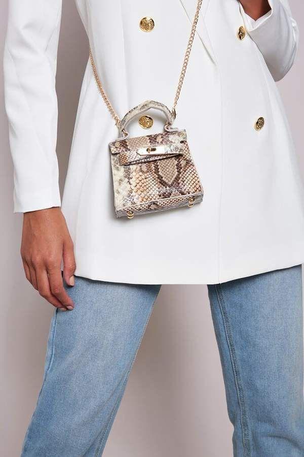 Isawitfirst Brown Snake Micro Mini Bag   Mini bag, Bags, Nano bag