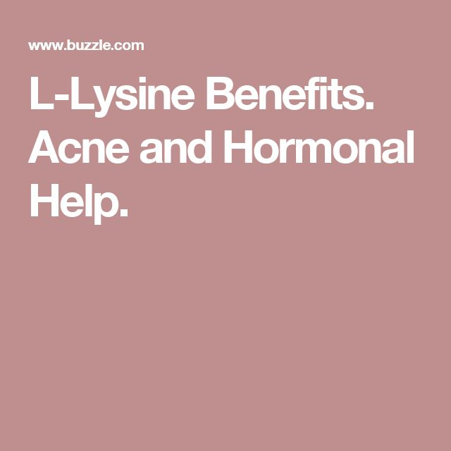 L-Lysine Benefits. Acne and Hormonal Help.