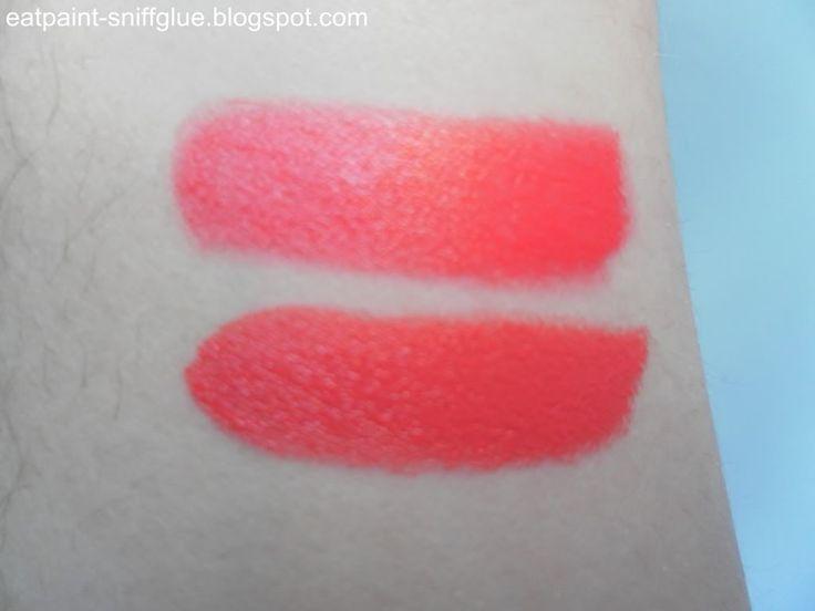 MAC Lipstick Dupe: Vegas Volt = Revlon Melonade