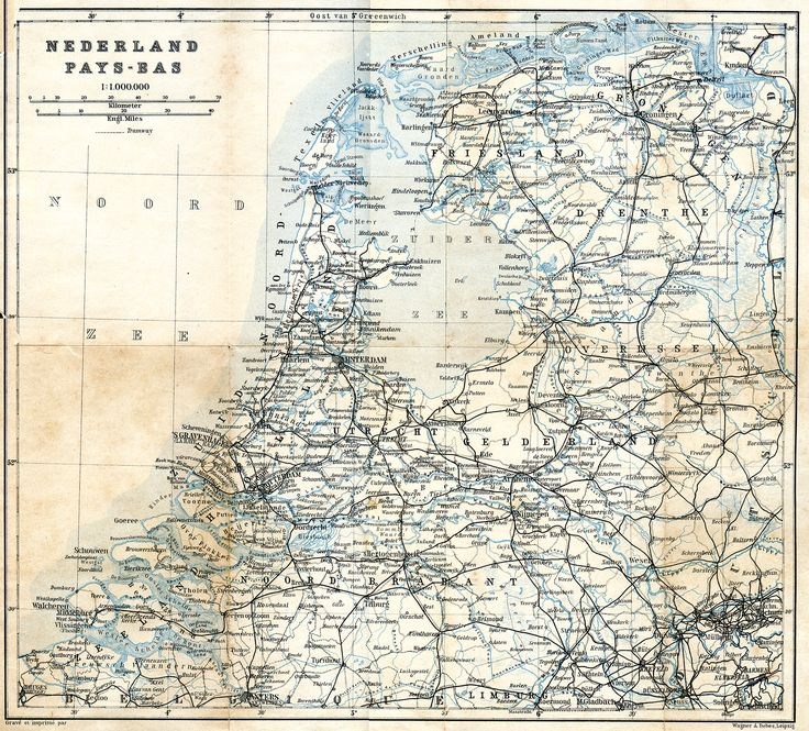 Vintage map of Holland (It's free for any use... the image is in the public domain - 200dpi 2000x1808px) Source:    http://www.tourvideos.com/maps-Holland.html
