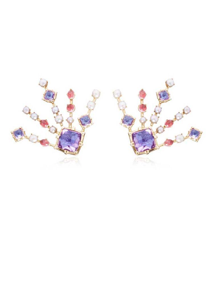 Larkspur & Hawk Large Bella earrings, available from Moda Operandi.
