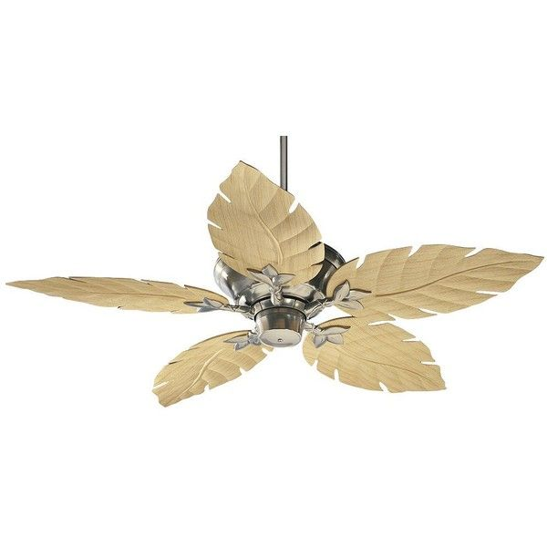 """52"""" Quorum Monaco Satin Nickel Patio Ceiling Fan ($330) ❤ liked on Polyvore featuring home, outdoors, outdoor decor, ceiling fans, outside ceiling fans, outdoor garden decor, patio decor and outdoor patio decor"""