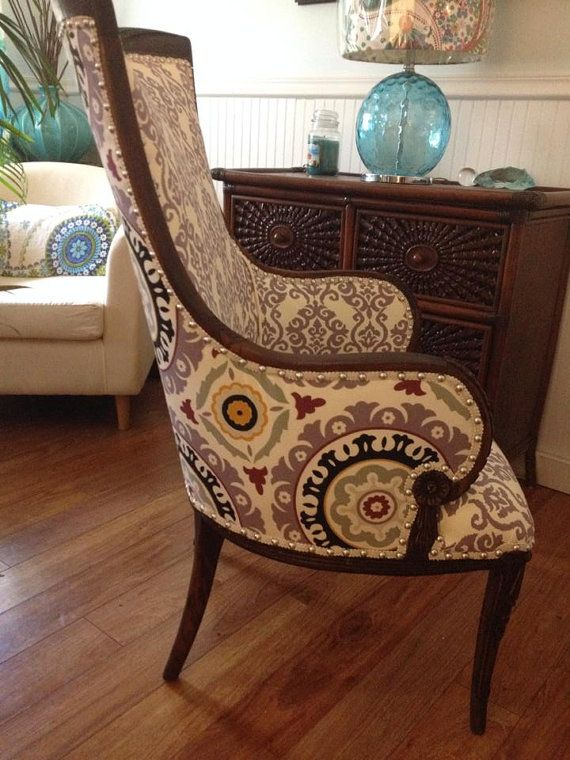 VIOLET Antique Fireside Chair 1800's Funky Boho by 209West, $500.00 - 31  Best Home Decor - Antique Fireside Chairs Antique Furniture