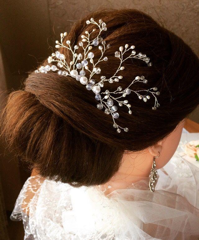Купить Свадебный гребень в прическу - украшения ручной работы, ручная работа, украшения для волос