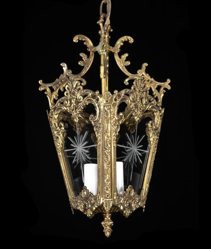 Carlson Galleries : Antique Lantern Pendant Light Restored Vintage Brass  Bronze Glass Chandelier $295.00 - 39 Best Lanterns Images On Pinterest Lanterns, Antique Ceiling