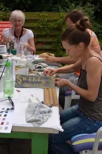 Annie Sloan workshop / kursus i maleteknikker med Chalk Paint™ hos Adriana fra Cinteriors.dk