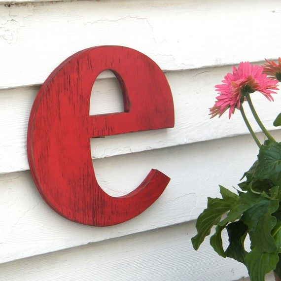 Lowercase Letter Small Distressed vintage style