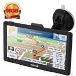 Hieha® GPS Auto Voiture ou Camion Android Système d'Operation 4.4.2 Navigation16Go 7 Pouces Écran HD Tactile Capacitif Carte d'Europe…