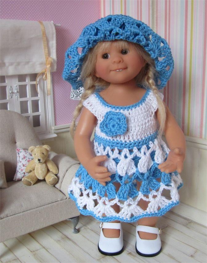 84- FICHE PATRON Tenue Delphine au crochet pour poupée Wichtel : Jeux, jouets par atelier-crochet