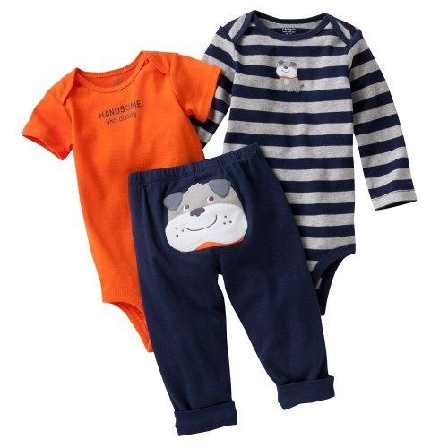 de64f1c3d Carter's Baby Boys Navy Puppy 3 Piece Bodysuits « Clothing Impulse ...