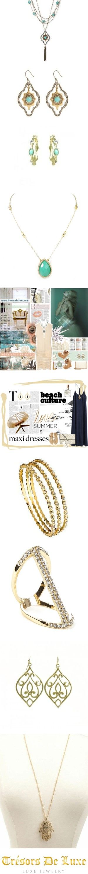 Gorgeous accessories inspired by love, life and the most current on trend looks! See our looks on the Red Carpet this Award Season 2016!   {Trend} GOLD RUSH by tresorsdeluxe on Polyvore featuring women's fashion, jewelry, earrings, sparkle jewelry, C. Jeré, xO Design, Derek Lam, STELLA McCARTNEY, Too Faced Cosmetics and Charlotte Russe