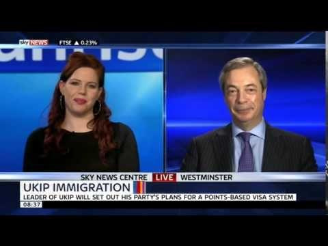 SkyNews  Nigel Farage on UKIPs immigration policies 04Mar15