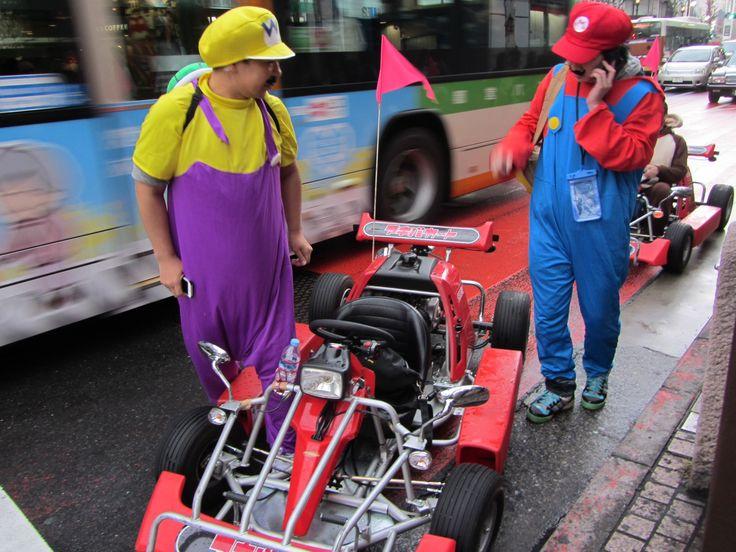 Mario en las calles de Tokyo