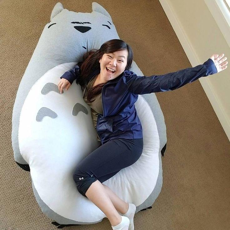 DIY giant totoro plush #diy #totoro #beanbag #plush # ...