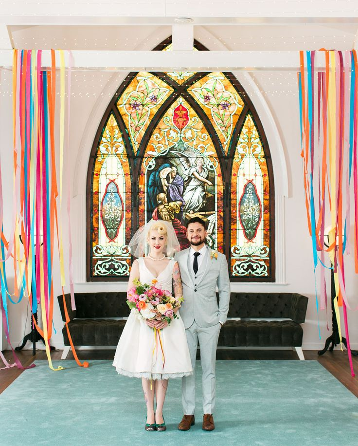 Colorful Los Angeles Inspiration at The Ruby Street // This rockabilly wedding is super colorful and cool!