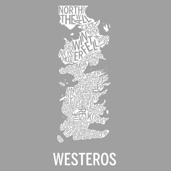 Westeros med Starks färger