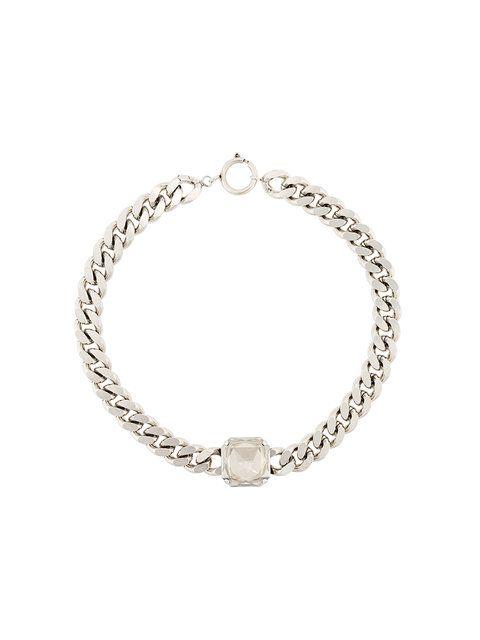 Shop Isabel Marant embellished chunky chain necklace.