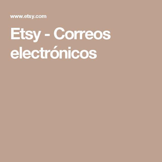 Etsy - Correos electrónicos