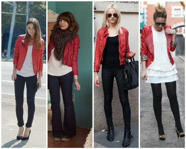 123 best Red Leather Jacket images on Pinterest