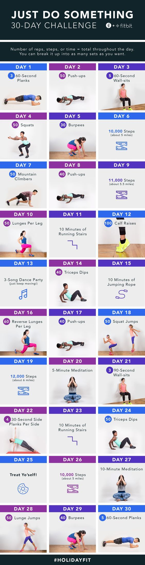 Greatist and Fitbit's 30-Day, Just-Do Something Challenge: