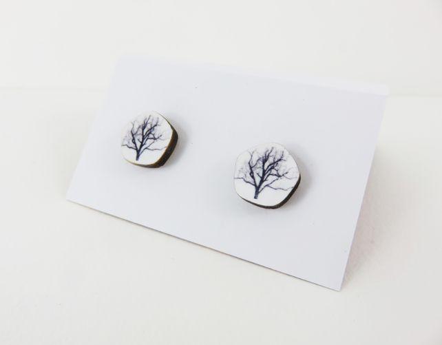 Black and white tree studs £12.00
