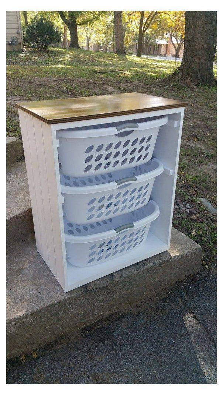 Laundry Basket Holder Laundry Room Decor Laundry Organizer Laundry Basket Organizer Laundry Furniture Clo Farmhouselaundryroom In 2020 Diy Home Decor Projects Laundry Room Decor Home Diy
