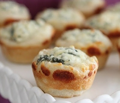 Bite Size Spinach Dip Bowls...can't WAIT to make these.  :)