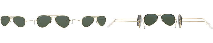 Ray-Ban Polarized Original Aviator Sunglasses, RB3025 55