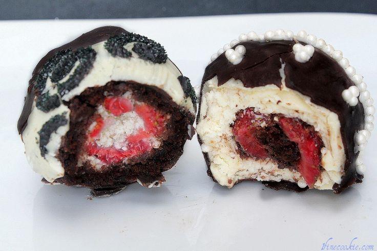 Brownie Fudge Cake and Cheesecake-Stuffed Strawberries.