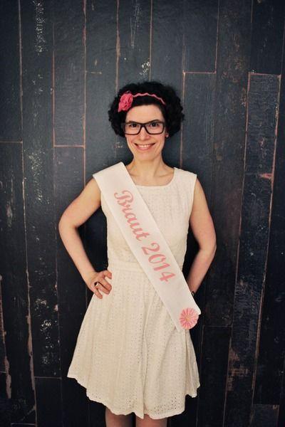 BRAUT Schärpe JGA Junggesellinnenabschied Bride von Anne Svea auf DaWanda.com