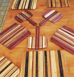 Cutting Board Woods. Superior hardwoods that are hard, durable, beautiful, and safe for food