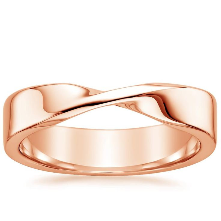 Ivy Scroll Bands: 14K+Rose+Gold+Mobius+Ring+from+Brilliant+Earth