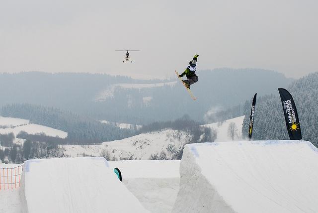 From VIP Jump & Grind freeski contest on Snowpark Paprsek.