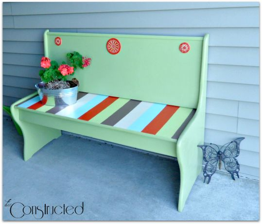 Painted Front Porch Bench | DeeConstructed
