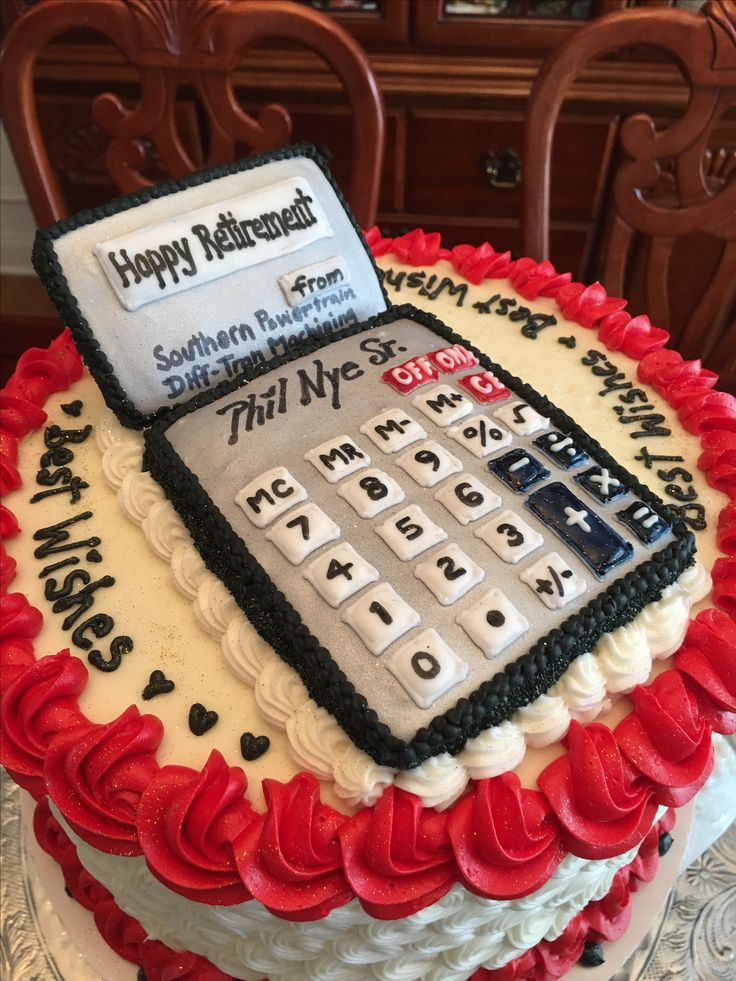 Retirement Cake For An Accountant Private Baker