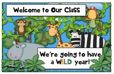 Welcome Back Bulletin Board Display - Safari/Jungle Theme from House Fly Creations on TeachersNotebook.com (7 pages)